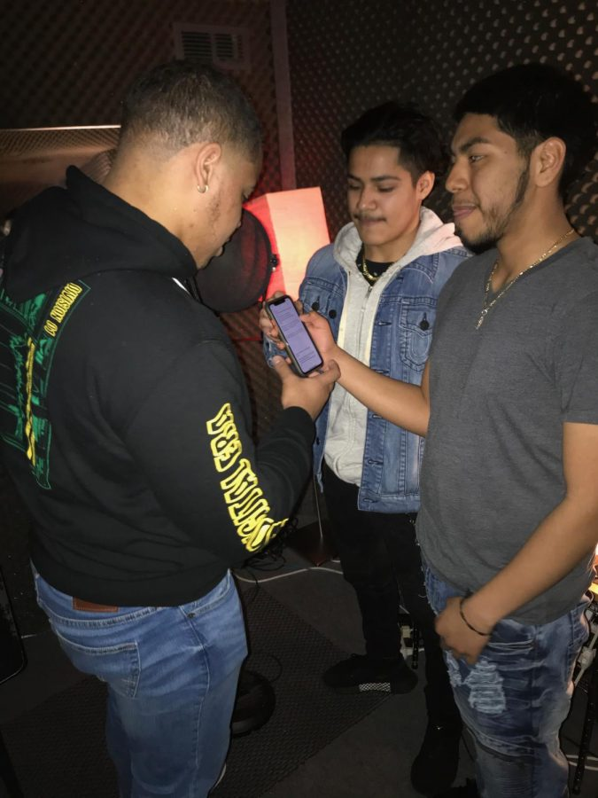 Prep students, including Evin Zuniga, right, learn about music studios on a field trip to JamBox Studios in New York City.