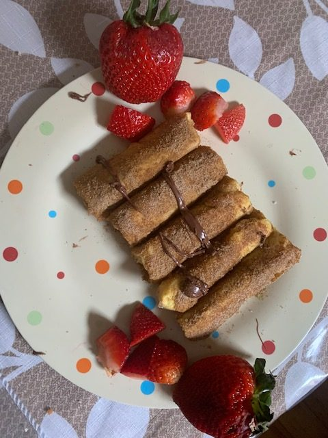 Nutella and Strawberry Rolls
