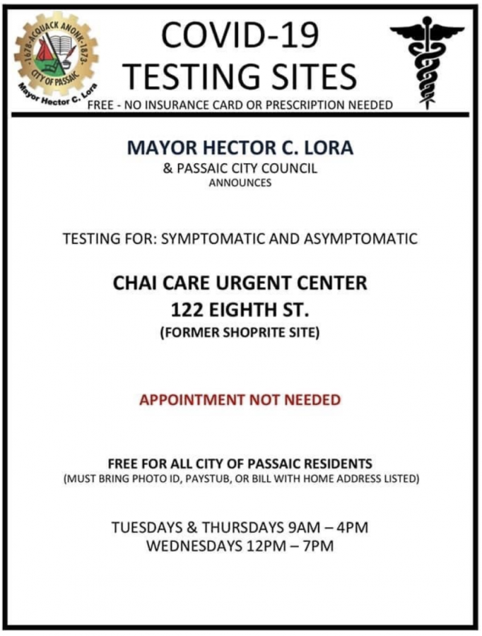 New COVID-19 testing site in Passaic