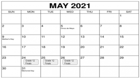Schedule for the month of May at Prep