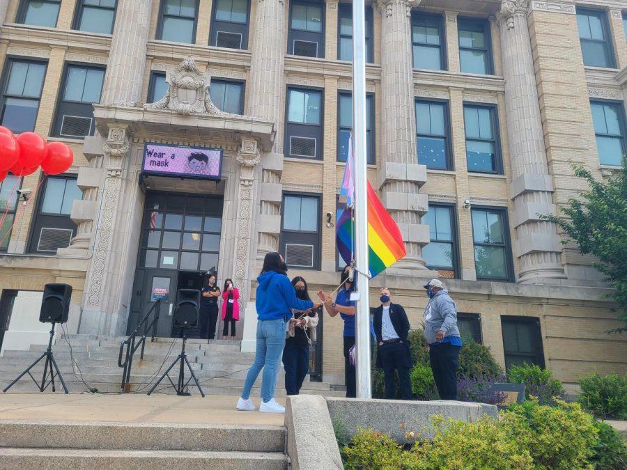 PHOTOS: Progress Pride flag raising at Prep
