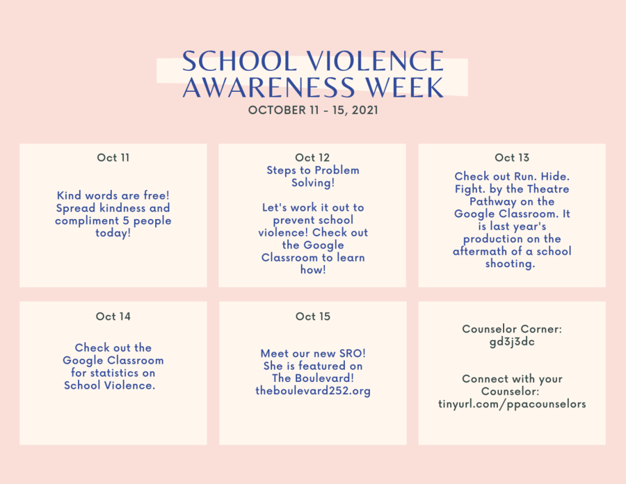 Its School Violence Awareness Week